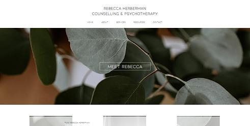 Rebecca Herberman - Website by Brand San