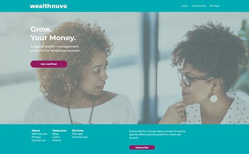 wealthnuvo - Website by Brand Sandwich C