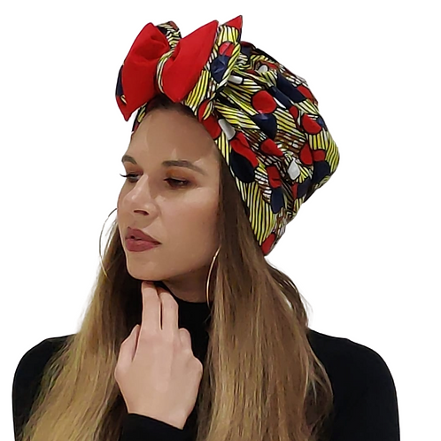 Red Bow Mix Sacha Double Bow Turban