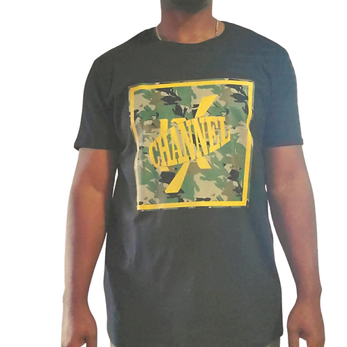 CHANNEL NINE GOLD SQUARE TEE