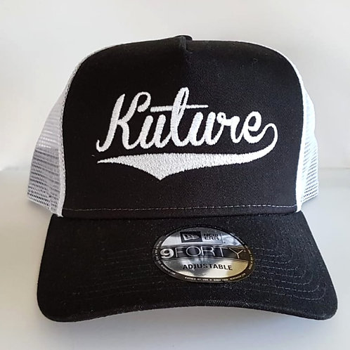 KUTURE TRUCKER CAP - BLACK/WHITE
