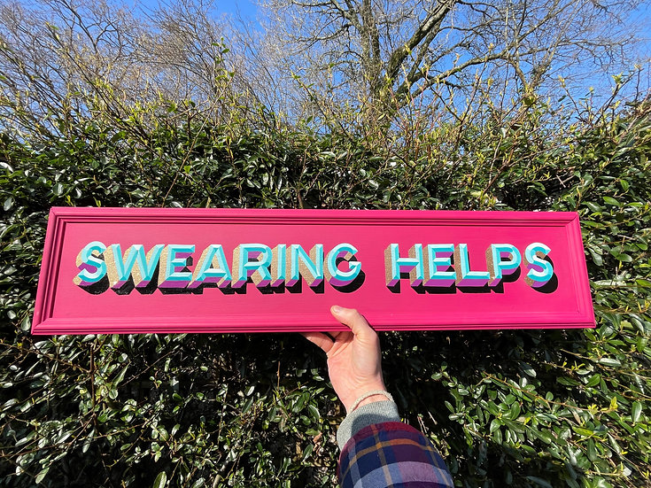 Hand Painted Swearing Helps