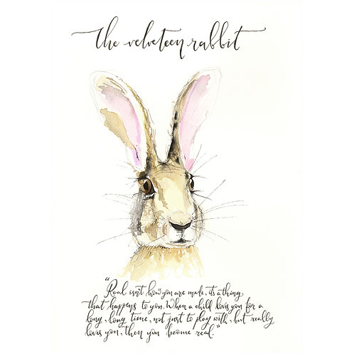 The Velveteen Rabbit Print with Mount A4