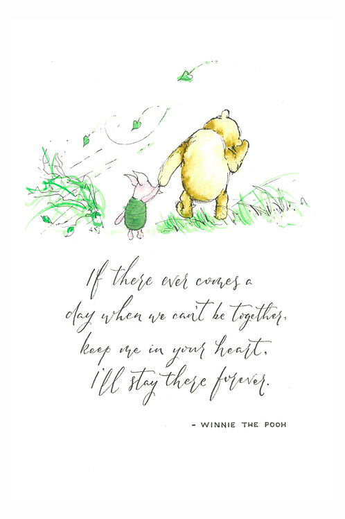Pooh and Piglet Print with Mount A5