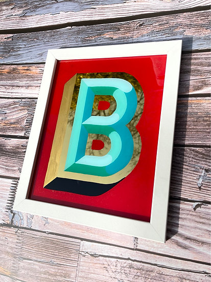 Hand Painted and 23ct Gold Gilded Letter