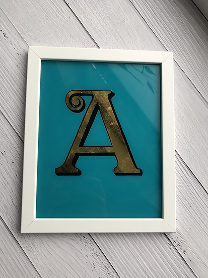Hand Painted and 23ct Gold Gild Letter (Single Colour)