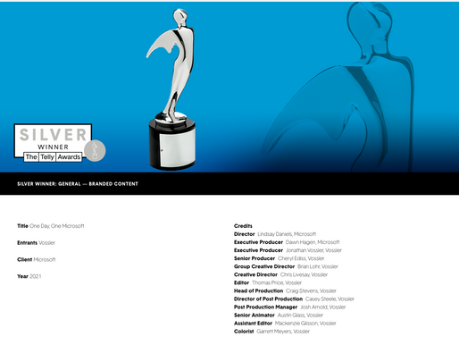 TELLY AWARD for One Day. One Microsoft