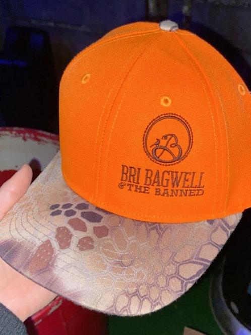 Outdoor Hat - Orange & Camo