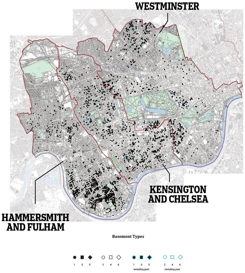 Basement plan map.