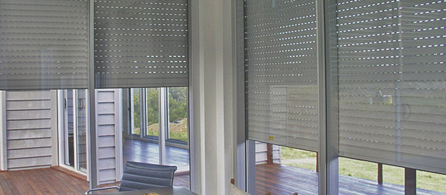 LUXURY INTERIOR DESIGN MEETS HOME SECURITY: Internal Window Security Shutters