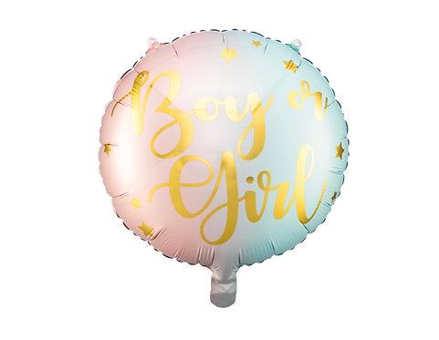 Folieballong Boy or Girl 35cm