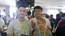 Students from China, Germany, and US