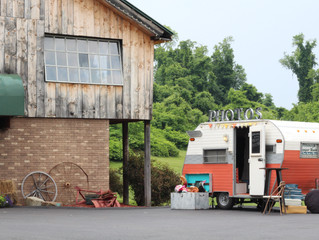 Five Pines Barn Irwin, PA Wedding & The Pittsburgh Camper Booth