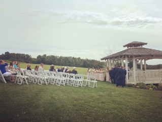 Reception & Ceremony at White Barn with Pittsburgh Wedding DJ Stephanie Crooks 8-31-19