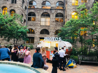 Allegheny Courthouse Wedding in the Courtyard!  June 2018 Pittsburgh Camper Booth