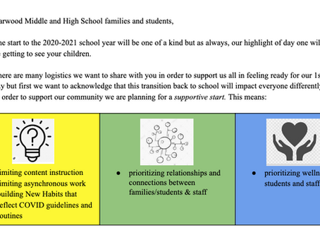 Harwood Community Newsletter 9/4/2020