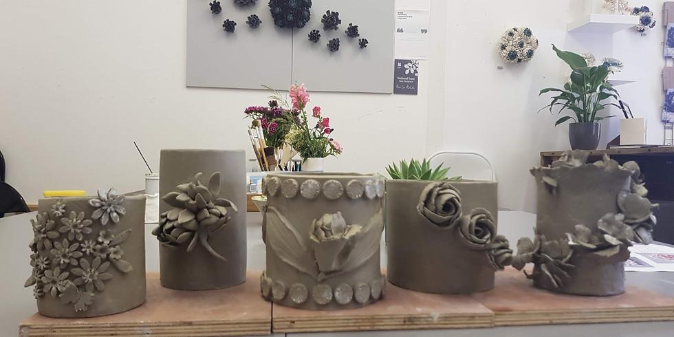 Ceramic planter workshop August 2020