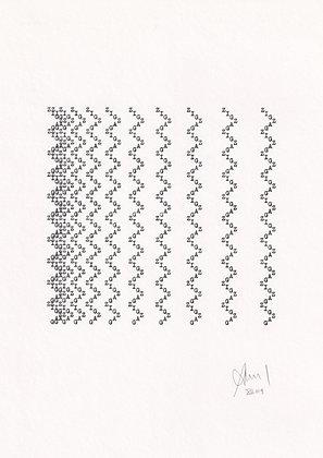 »zig-zag« original typewriter art by anatol knotek