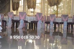 оформление стульев на свадьбу