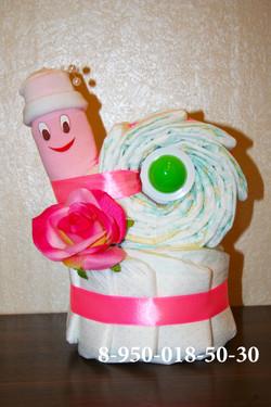 торт из памперсов, новорожденным