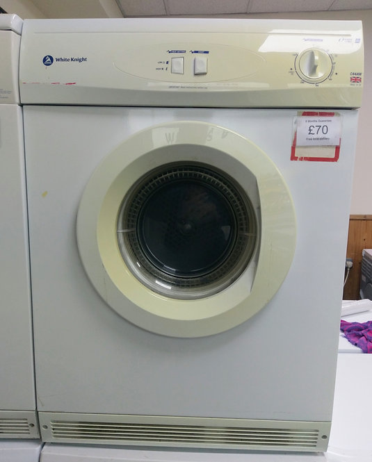 White Knight C44AW 6 kg vented tumble dryer