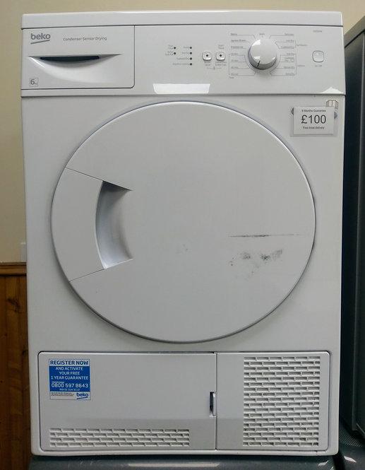 Beko DSC64W 6 kg condenser dryer