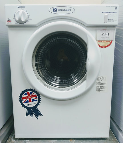 White Knight C3A vented tumble dryer
