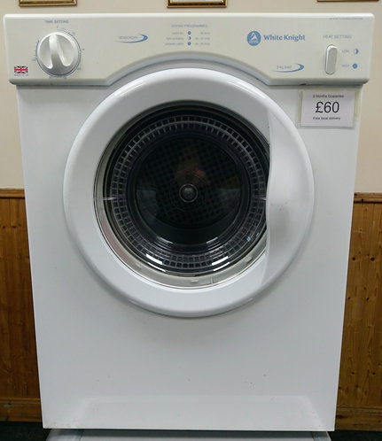 White Knight CL372WV 3 kg vented dryer