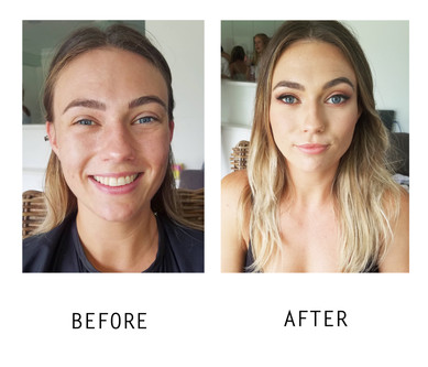 Makeup Before and After Look Hens