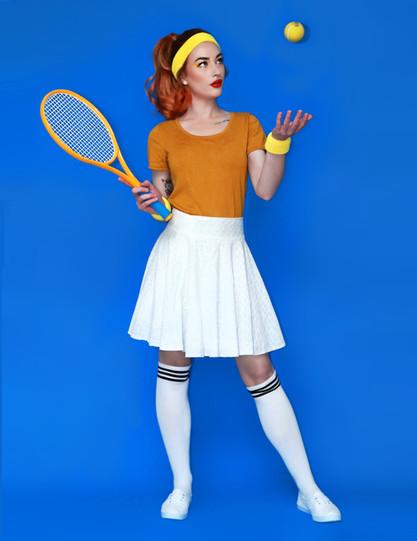 Woman playing tennis photoshoot
