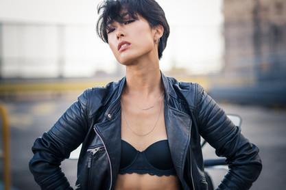 Sexy Asian Biker Woman