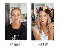 Makeup Before and After Look Hens Bridal Shower