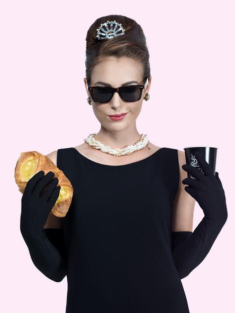 Audrey Hepburn Pastry Photoshoot
