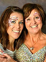 Wow Factor Faces, face painter Cheshunt Herts, Pink flower face painting