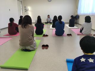 自治医大のさくら薬局にて♡健康市民講座でヨガ