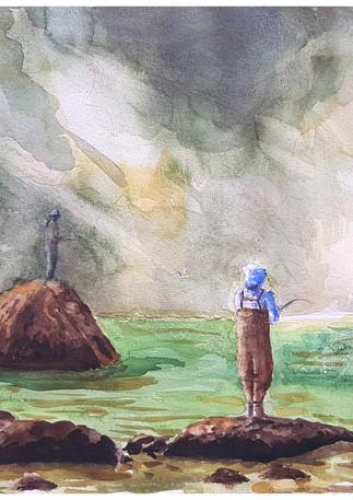 דייגים במפלי סנוקולמי - סיאטל
