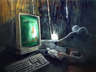 עכבר משתמש באדם