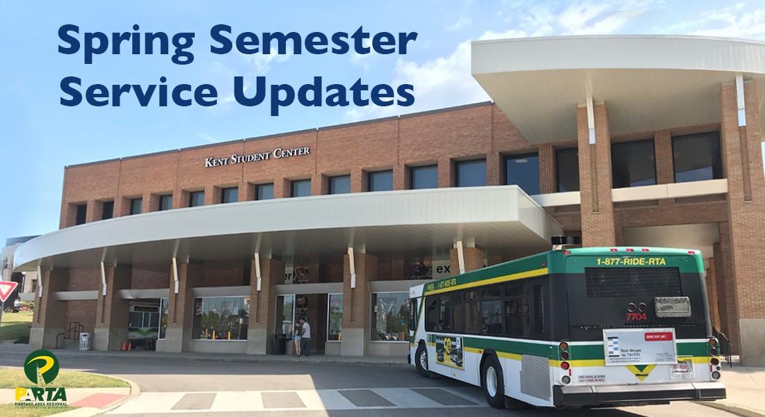 Spring Semester Service Updates