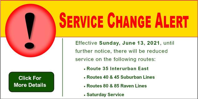 Service Change Alert
