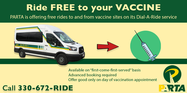Ride FREE to your VACCINE