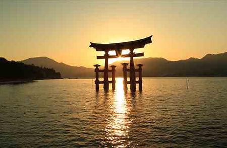 Tori Gate at sunset