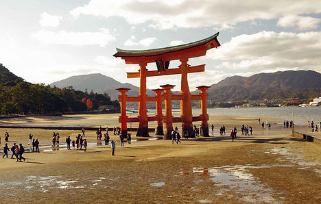 Otorii at low tide