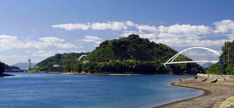 Tobishima Kaido in Seto Inland Sea