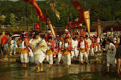 Kangen festival on Miyajima