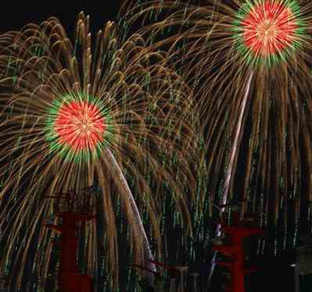 Fireworks in summer