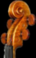 Violin in the style of A.Stradivari c.1716 head