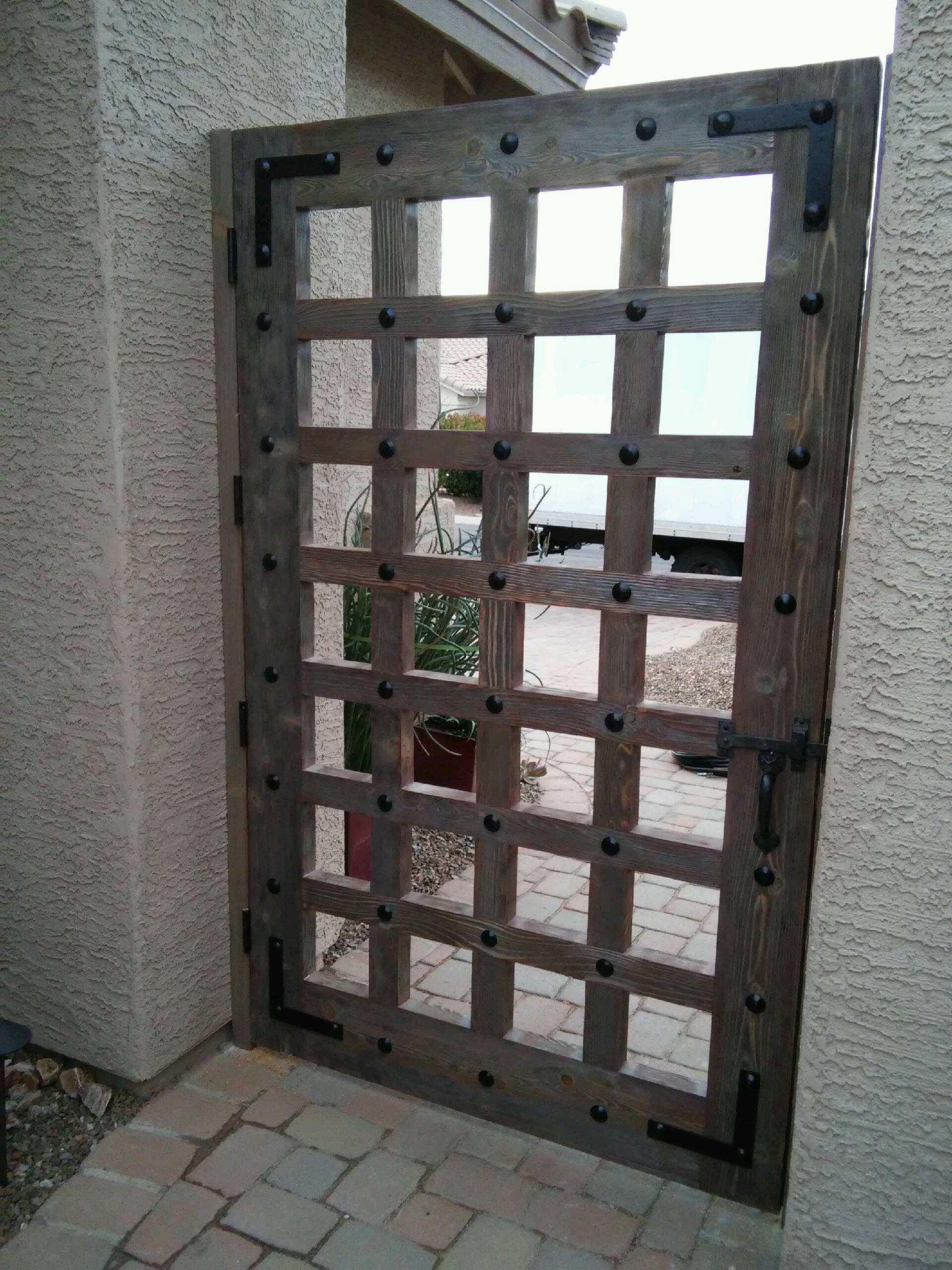 Wood Front Door - Tucson Arizona