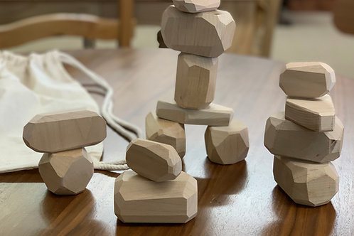 Noninoni Wood Pebbles