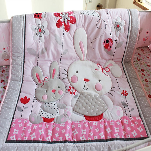 Cotton Nordic Girl Crib Bedding Sets Newborns Mattress Cover Crib Bedding Girl