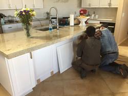 kitchen Island Install